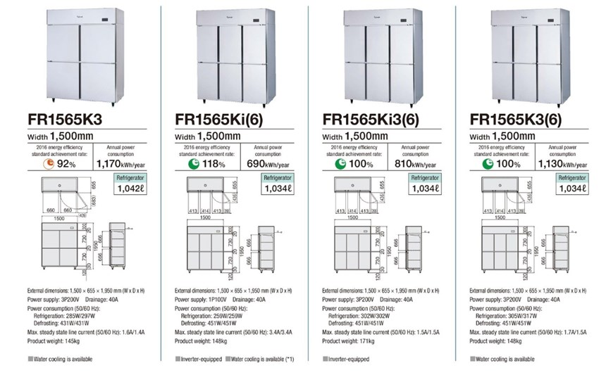 Tủ mát 4 cánh Fujimak FR1565K3 (Nhật Bản) ảnh 3