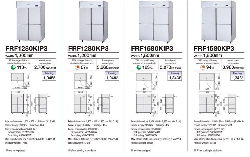 Tủ đông 4 cánh Fujimak FRF1280KiP3 ảnh 2