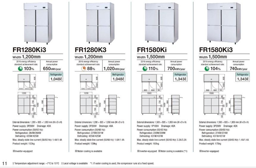 Tủ mát 4 cánh Fujimak FR1580Ki3 ảnh 3