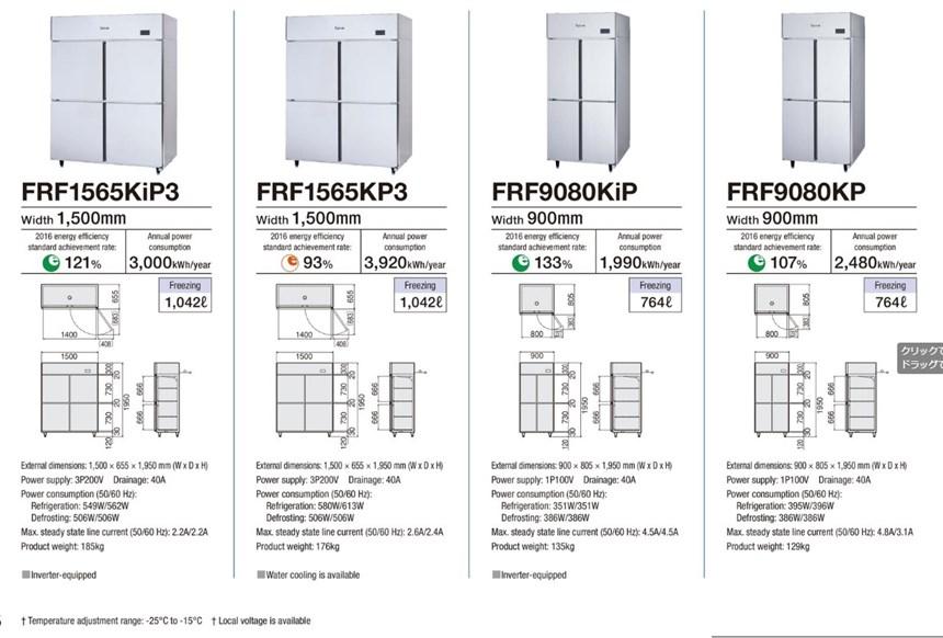 Tủ đông 4 cánh Fujimak FRF9080KP ảnh 2