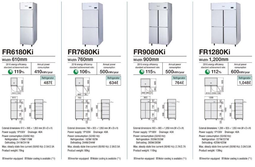 Tủ mát 4 cánh Fujimak FR1280Ki (Nhật Bản) ảnh 3
