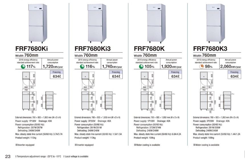 Tủ đông 2 cánh Fujimak FRF7680Ki3 ảnh 2