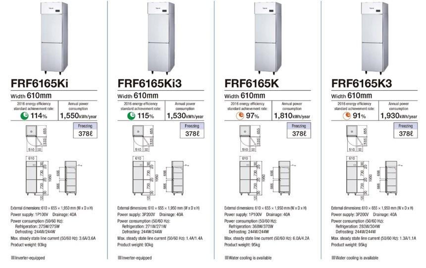 Tủ đông 2 cánh Fujimak FRF6165K ảnh 3