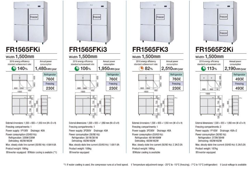 Tủ đông mát 4 cánh Fujimak FR1565FKi ảnh 2
