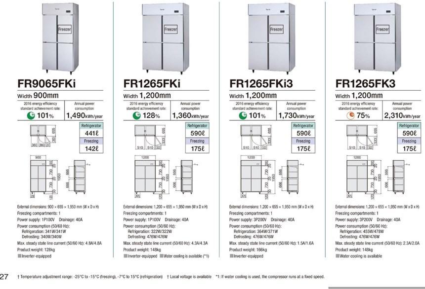 Tủ đông mát 4 cánh Fujimak FR1265FK3 ảnh 2