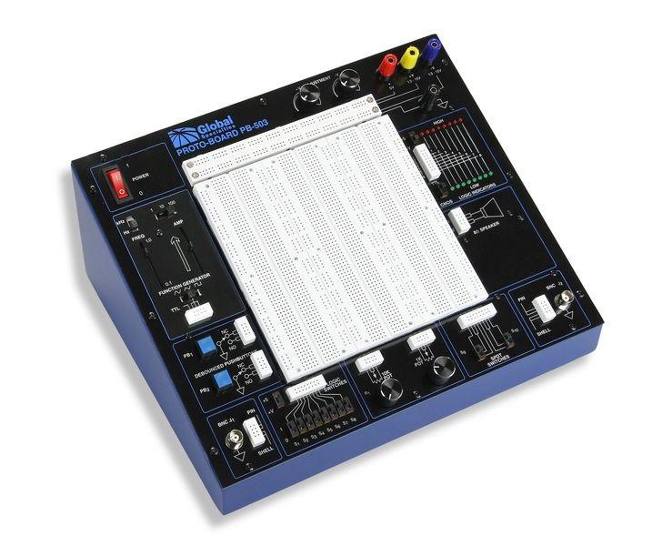 Bộ kit thực hành điện tử số và điện tử tương tự Global PB-503