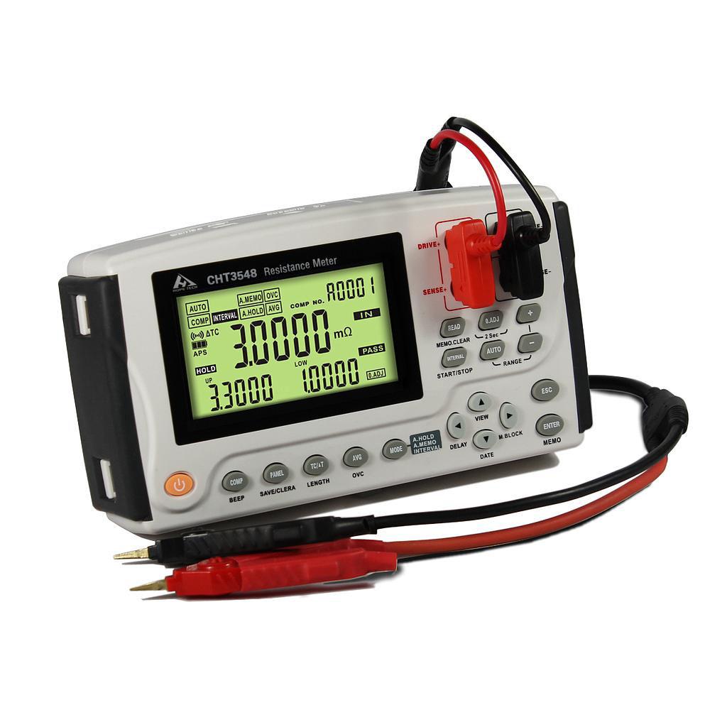 Máy đo điện trở cầm tay Hopetech CHT3548A ( 0.1μΩ~3.3MΩ, 0.02% )