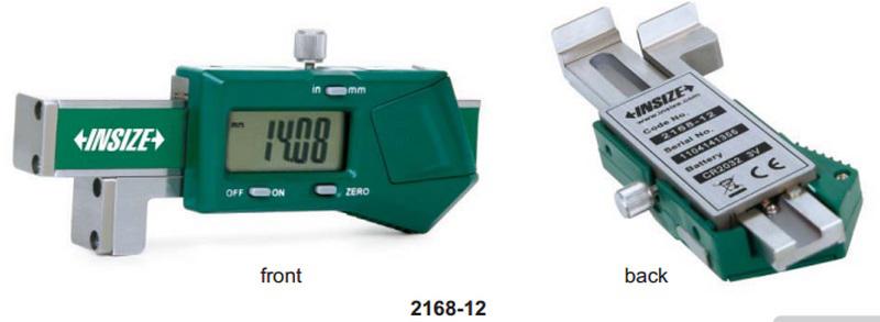 Đồng hồ đo chiều cao và khoảng cách rãnh Insize 2168-12, 0-12.7mm/0.01mm