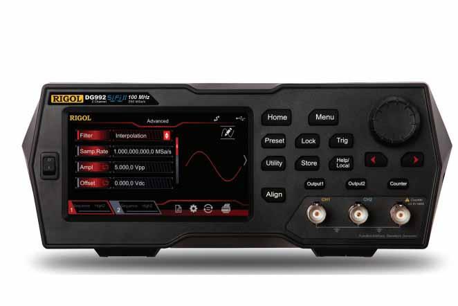 Máy phát xung tùy ý Rigol DG972 (70Mhz, 250Msa/s, 2 Kênh)