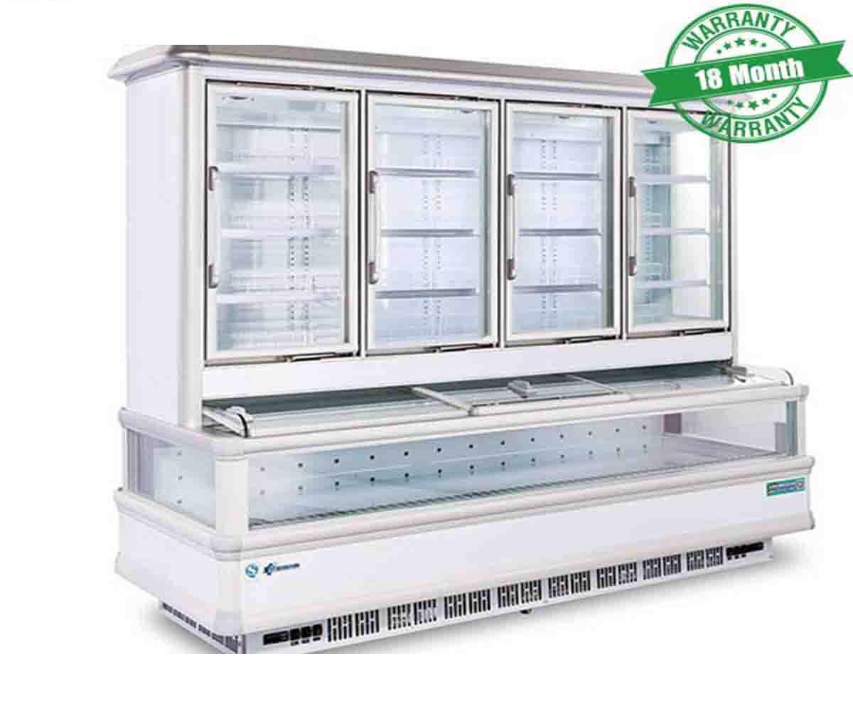 Tủ trưng bày siêu thị 2 chế độ(Trên mát dưới đông)  KS-2000F