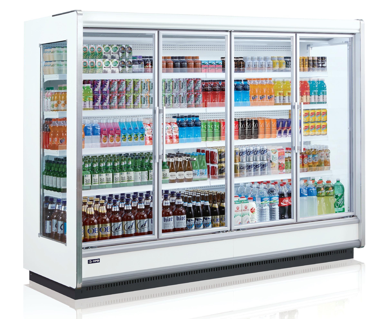 Tủ mát trưng bày thức uống dạng cửa kéo KUSAMI SMM4D2-08NOD