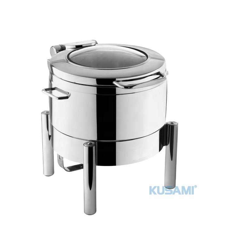 Nồi hâm Soup tròn mặt kính Kusami KS-120426