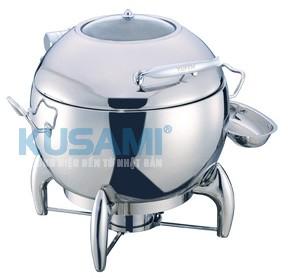 Nồi hâm Soup tròn mặt kính Kusami KS-121287