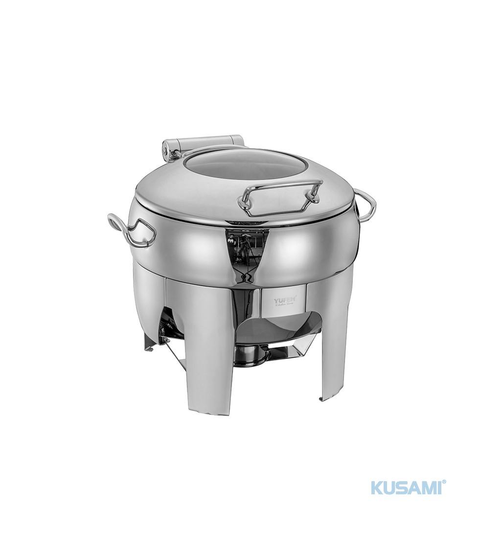 Nồi hâm Soup tròn mặt kính Kusami KS-120846