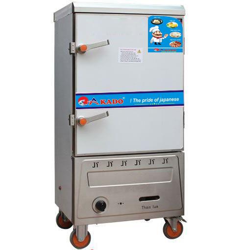 Tủ nấu cơm công nghiệp 8 khay ga AKADO