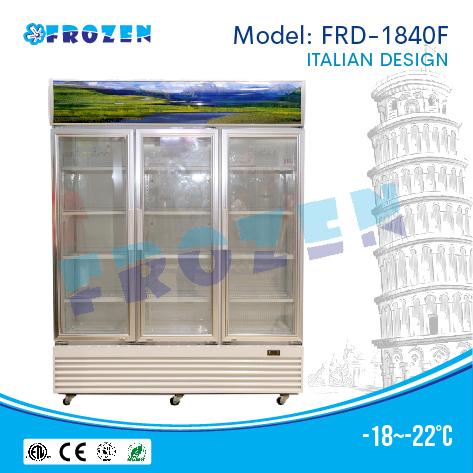 Tủ đông 3 cánh kính Frozen FRD-1840F