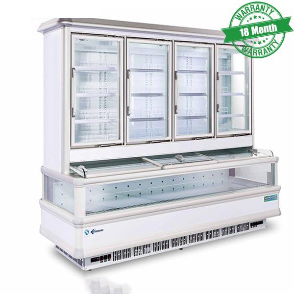 Tủ trưng bày siêu thị 2 chế độ(Trên mát dưới đông) KUSAMI KS-2000F